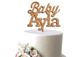 wood cake toppers wood baby cake topper sofia invitations