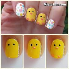 missjjan u0027s beauty blog tutorial easter baby nail art