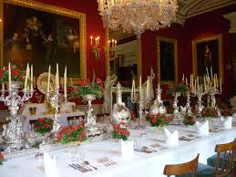 interiors dining room of chatsworth house derbyshire uk set as if for a grand banquet of lords and ladies can be found in the famous chatsworth house one of the most famous stately homes in great