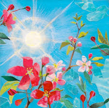 early spring sunshine painting by robin birrell