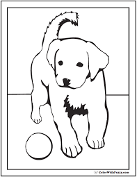 35 dog coloring pages breeds bones dog houses