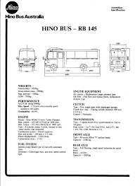 hino rb145 manuals owners workshop parts electrical