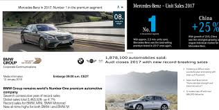 2017 premium brand car sales all time records for mercedes benz