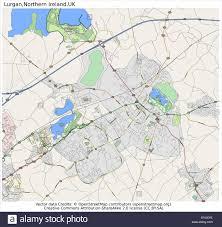 Northern Ireland Map Lurgan Northern Ireland Country City Island State Location Map
