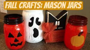 diy fall crafts halloween mason jar luminaries youtube