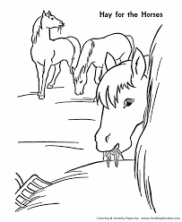 horse coloring pages printable hay horses coloring