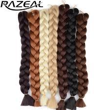 packs of kanekalon hair razeal 48inch 105g pack jumbo kanekalon braiding hair extensions