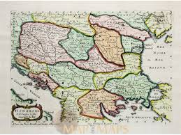 Balkan States Map by Hongary Balkans Antique Map Hongrie U0026 P N Sanson Mm
