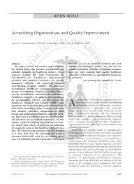 accrediting organizations and quality improvement pdf download