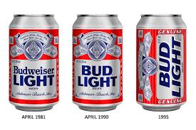 Bud Light Aluminum Bottle Before U0026 After Bud Light U2014 The Dieline Packaging U0026 Branding