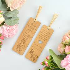 wooden party favors wooden engraved laser cut bookmark and personalized wedding gift