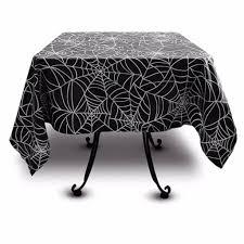 spider web print tablecloths gothic decor halloween sin in linen