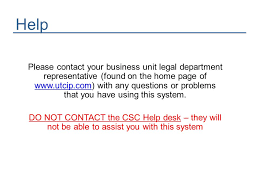 Csc Help Desk Phone Number Registration And Invention Disclosure Id Training Ppt Download