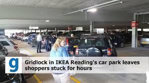 ikea parking lot ikea reading gridlock leaves people trapped in car park for hours