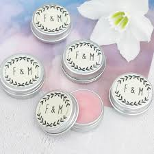 wedding favours personalised lip balm wedding favours by hearth heritage