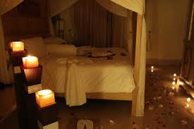 candle lit bedroom fabulous romantic candle light bedroom with rose petals on bed