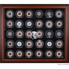 Display Case For Sale Ottawa Chicago Blackhawks Fanatics Authentic 30 Puck Mahogany Display