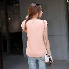 sleeve chiffon blouse sleeves beading lotus chiffon shirt fabtag