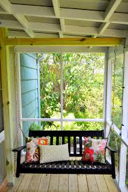 perhaps it is time to paint the front porch swing decorating