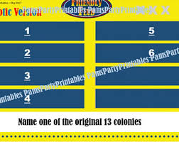 Family Feud Name Tag Template Family Feud Etsy