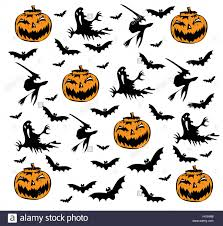 happy halloween background with pumpkin icons stock photo royalty