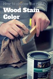 how to choose the right wood stain color