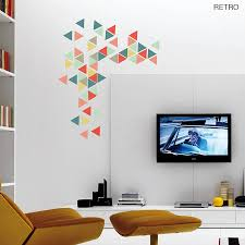 36 geometric wall decals geometric vinyl decal geometric art oakdene designs geometric triangles vinyl wall sticker set