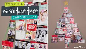 christmas card display holder washi tree a diy christmas card display cardstore