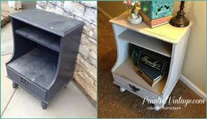 Vintage Nightstands How To Mix Paint Minerals Painted Vintage