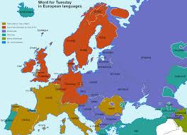 Rap Map Names Of Weekdays In Various European Languages Album On Imgur