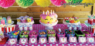 Candy Party Table Decorations Shopkins Birthday Party Ideas Fun U0026 Easy Planning Cupcakemakeover