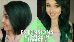 Bob Frisuren Mit Extensions by Extensions Tragen Trotz Bob Kurzen Haaren