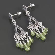 Peridot Chandelier Earrings Peridot Earrings Beadage