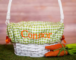 personalized basket personalized easter basket liner etsy