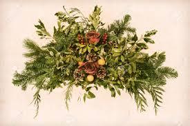 grunge vintage victorian christmas floral arrangement decoration