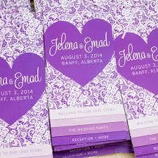 purple wedding programs j e s banff ombre purple wedding wedding invitations calgary