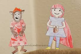 printable storytime craft red riding hood