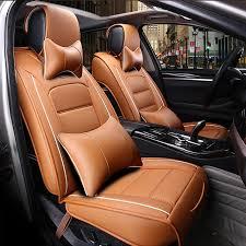 couvre siege auto cuir avant arrière siège de voiture en cuir de luxe couvre pour