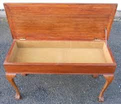anne style walnut duet piano stool