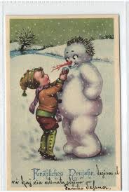 278 best snowman postcards and greeting cards images on pinterest