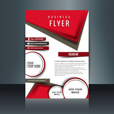 flyers design modern brochure with geometric shapes vector free