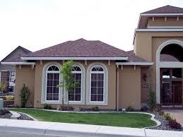 house exterior paint ideas using colour combination of