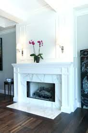 gas fireplace designs with tv above contemporary wall moulding