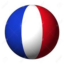 Image French Flag French Flag Sphere Isolated On White Illustration Stock Photo