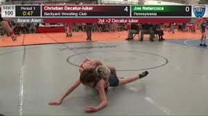 1314 cadet men 100 christian decatur luker backyard wrestling club