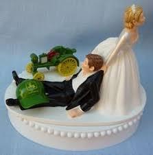 deere cake toppers deposit custom and groom on tractor wedding cake topper