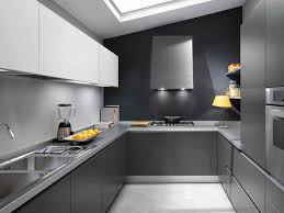 flat front kitchen cabinets gray lacquered flat front kitchen cabinets contemporary kitchen