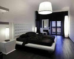 couleur de chambre a coucher moderne déco noir et blanc avec touches de couleur chambre à coucher