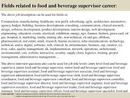 Assistant Food And Beverage Manager Resume Food And Beverage Supervisor Job Description Top 10 Food And
