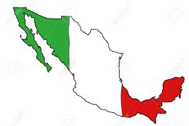 Maps De Mexico by Map Of Mexico With Mexican Flag Colours Royalty Free Cliparts
